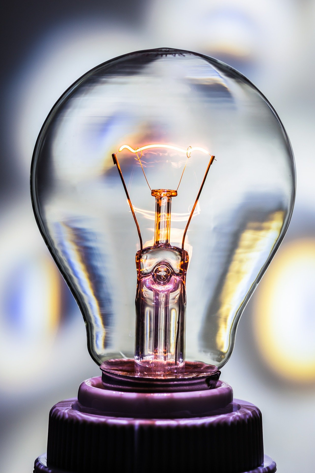 Bulb with electricty